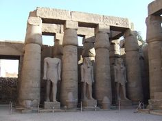 Luxor Temple  Columns and Pharaonic Statures
