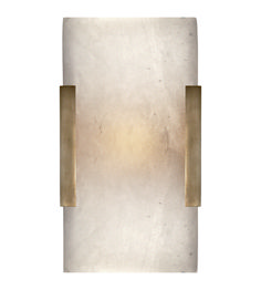 Visual Comfort KW2115AB-ALB Kelly Wearstler Covet Wide Clip Bath Sconce in Antique-Burnished Brass