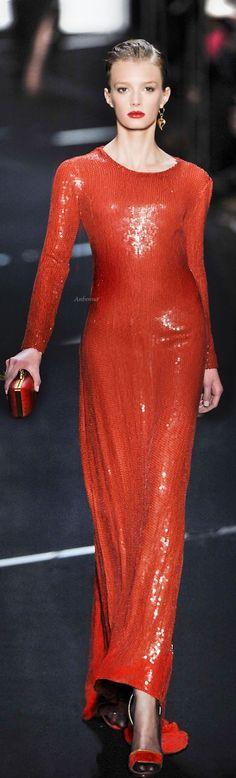 anbenna:Diane von Furstenberg via:imgend.of course YES. Estilo Fashion, Red Fashion, Couture Fashion, Runway Fashion, Fashion Beads, Orange Fashion, High Fashion, Color Naranja, Simply Red
