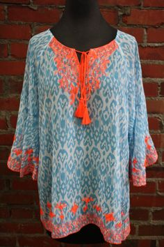 New Ivy Jane Ikat Tunic available in store or online at www.shopcocobella.com