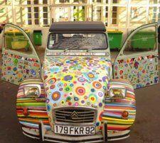 2cv personnalisee European Transport, 2cv6, Car Humor, Vespa, Hippy, Art Cars, French Vintage, Retro, Autos