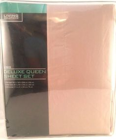 Queen Sheet Set Beige 4 pc Wrinkle Free Living Solutions New #LivingSolutions