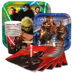 3-D Star Wars Birthday Party Pack (Paper Plates, Napkins, Cups) Paper Art,http://www.amazon.com/dp/B00H1EDIHA/ref=cm_sw_r_pi_dp_s7.Msb1118MD3SWY