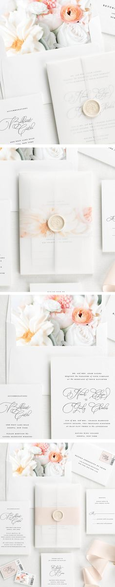 Norah Floral Wedding Invitations