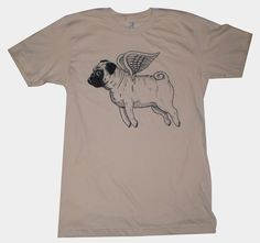 when pugs fly ♥ Clean pug! Pug Love dog doggie puppy boy girl black fawn funny fat outfit costume