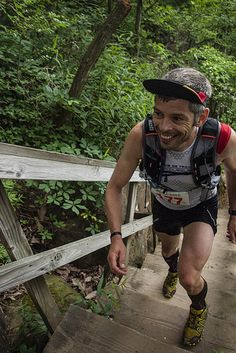 Fighting with the stairs, on the third day running in a row! #stagerace 60 miles in 3 days on 3 mountains #SalomonRCrun