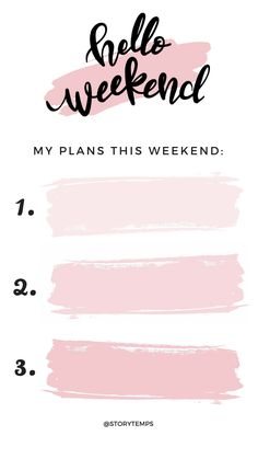 To do list edit Ideas De Instagram Story, Instagram Story Template, Instagram Templates, Best Instagram Stories, Ig Story, Insta Story, Monday Morning Quotes, Happy Weekend Quotes, Tuesday Quotes