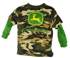 Featuring a full line of all colors- John Deere, Case IH, Farmall, Ford, and even Smith and Wesson. John Deere Kids, Camo Shirts, Kids Hats, Long Sleeve Shirts, Sleeves, T Shirt, Clothes, Tops, Fashion
