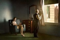 Edward Hopper's realistic paintings of American life have become iconic across the world. Richard Tuschman created a series of photos inspired by Hopper's paintings, in which he uses intricate. Rembrandt, Cinematic Photography, Art Photography, Narrative Photography, Edouard Hopper, Edward Hopper Paintings, Tableaux Vivants, International Photography Awards, Photoshop