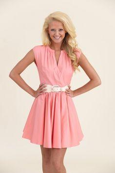 Betty Draper Dress-Pink Lemonade