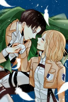 Levi x Petra-> don't ship this but this is too cute