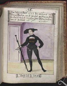 Author, Schwarz, Matthäus, Title: Trachtenbuch des Matthaus Schwarz aus Augsburg, Date: 1520-1560
