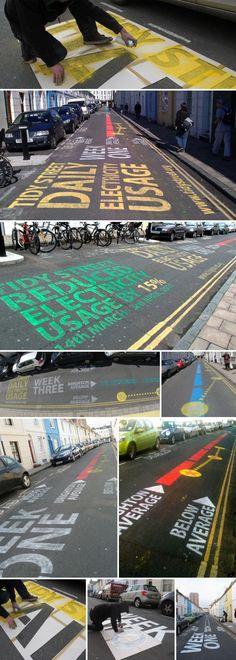 Real Infographic   Energy consumption,street art, Urbanized the film