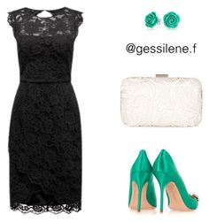 vestido by gessilene-ferreira on Polyvore featuring polyvore, moda, style, Forever New, Sophia Webster, Accessorize, Bling Jewelry, fashion and clothing