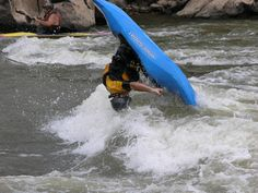 Flips in a playboat using a hydraulic.