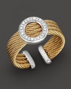 """Charriol Round """"Classique"""" Diamond Ring 
