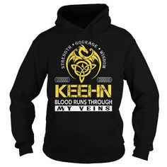 I Love KEEHN Blood Runs Through My Veins (Dragon) - Last Name, Surname T-Shirt T shirts