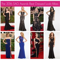 The 2016 SAG Awards Best Dressed Look-Alikes #camillelavie
