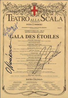 Memories...: Gala des étoiles-Teatro alla Scala-29 aprile 2011