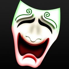 Jokerized Comedy Mask from the cover of Comedy of Errors Batman Humor, Highland Games, Comedy, Joker, The Joker, Comedy Theater, Jokers, Comedians, Comedy Movies
