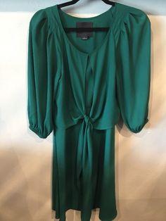 Anthropologie Maeve Women's Valparaiso Emerald Green Dress Sz 0 | eBay