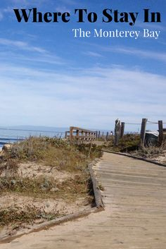 Where to stay around the Monterey Bay in California. Great places with even better deals. Find a hotel or even a campsite for your getaway.