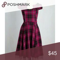 Hearts and Roses Showtime of Your Life dress Dark pink plaid dress. Hearts and roses Dresses Asymmetrical
