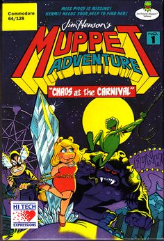 red dress, sexyfemale, ribbons, objectification //Jim Henson's Muppet Adventure Chaos at the Carnival (1989) for Commodore 64.