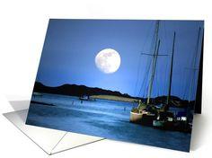 harbor moonlight birthday card