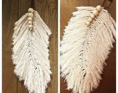 Items similar to Macrame Feather Wallhanging on Etsy Macrame Art, Macrame Projects, Macrame Knots, Native American Decor, Make Your Own Jewelry, Craft Night, Fabric Art, Yarn Crafts, Handmade