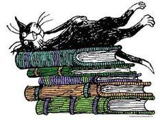 E Gorey - cat+books = heaven