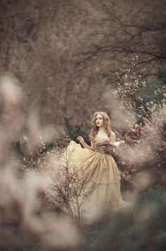Farewell To The Past by Maryna Khomenko  forest maiden, fantasy, medieval