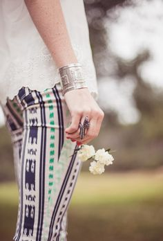Printed and patterned skinny jeans