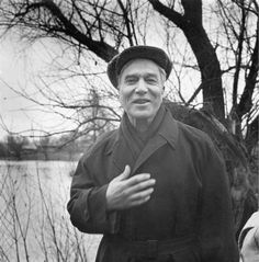 Boris Pasternak near his home in the countryside outside Moscow on Oct. 23, 1958//  (photo HAROLD K. MILKS/ASSOCIATED PRESS)