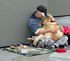 Unconditional love - no matter your path in life, a dog will always follow and be by your side.