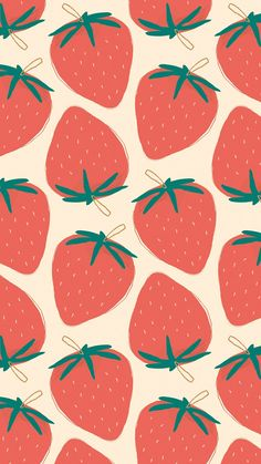 Download premium image of Cute strawberry fruit pattern pastel background by marinemynt about pattern, fruit, wallpaper mobile, aesthetic, and android wallpaper 2704528