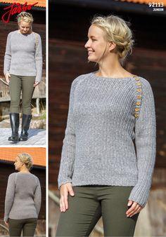 Women's raglan sweater.
