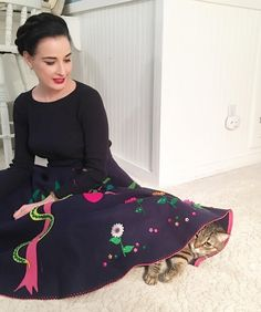 """23.3k Likes, 99 Comments - Dita Von Teese (@ditavonteese) on Instagram: """"Hide and seek with Mr. Biggles! What a treat to see the masterpiece that is the house of…"""""""