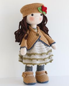 AVA Crochet Doll Amigurumi doll Stuffed doll Handmade