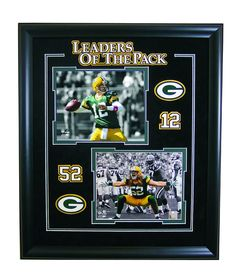 Aaron Rodgers and Clay Mathews 8x10 Photos Framed: Limited edition of 2011 hand numbered