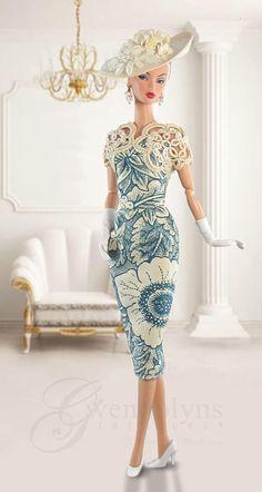 VINTAGE BLUE  for  Poppy, Monogram, Silkstone, Victoire and FR2 dolls