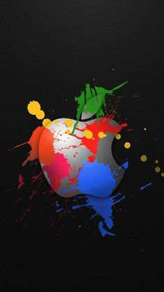 Graffiti Apple logo iPhone 6 Wallpapers
