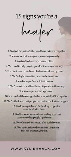 15 signs you're a healer // Kylie Haack