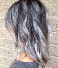 Silver Grey Ombre Hair