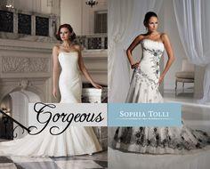 Sophia Tolli collection available at Blushing Rose Bridal Boutique, www.blushingrosebridal.com