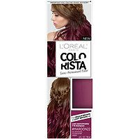 Colorista semi permanent hair color by L'Oréal Paris. Ammonia free hair dye for light blonde or bleached hair with pure direct dyes that fades in shampoos. Pink Hair Dye, Red Hair Color, Brown Hair Colors, Dyed Hair, Purple Hair, Ombre Hair, Brunette Color, Brunette Hair, Blonde Hair