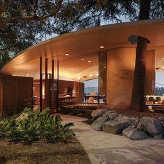 Inside Beats President Luke Wood's John Lautner-Designed L. Architecture Design Concept, Detail Architecture, Plans Architecture, Bamboo Architecture, Vintage Architecture, Modern Architecture House, Facade Design, Futuristic Architecture, Beautiful Architecture
