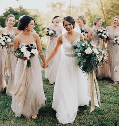 Bridesmaids in back - sister in front