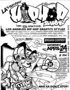 HEX TGO ORIGINAL HIP HOP SHOP FLYER 1991 by SANTO TGO TEAMSTERS, via Flickr