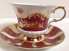 Vintage PARAGON FINE BONE CHINA Pembroke Tea Cup & Saucer Set England